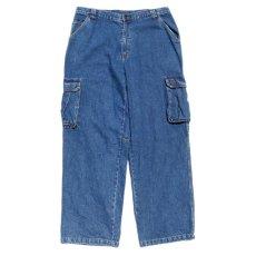 """画像1: 1990's~ """"TOMMY SPORTS"""" Baggy Fit Cargo Pants BLUE DENIM size W38INCH (1)"""