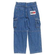 """画像5: 1990's~ """"TOMMY SPORTS"""" Baggy Fit Cargo Pants BLUE DENIM size W38INCH (5)"""