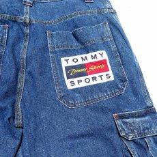 """画像8: 1990's~ """"TOMMY SPORTS"""" Baggy Fit Cargo Pants BLUE DENIM size W38INCH (8)"""
