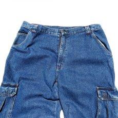 """画像7: 1990's~ """"TOMMY SPORTS"""" Baggy Fit Cargo Pants BLUE DENIM size W38INCH (7)"""