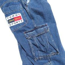 """画像6: 1990's~ """"TOMMY SPORTS"""" Baggy Fit Cargo Pants BLUE DENIM size W38INCH (6)"""