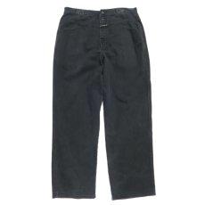"""画像1: """"MARITHE FRANCOIS GIRBAUD"""" Baggy Fit Cotton Twill Pants BLACK size W36INCH (1)"""