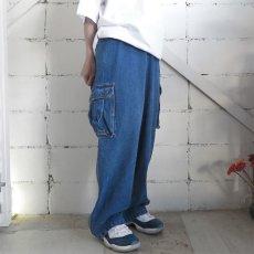 """画像3: 1990's~ """"TOMMY SPORTS"""" Baggy Fit Cargo Pants BLUE DENIM size W38INCH (3)"""