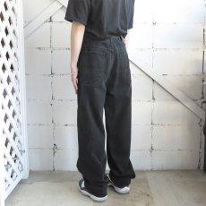 """画像10: """"MARITHE FRANCOIS GIRBAUD"""" Baggy Fit Cotton Twill Pants BLACK size W36INCH (10)"""