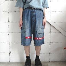 """画像2: """"MARITHE FRANCOIS GIRBAUD"""" Baggy Fit Denim Shorts BLUE DENIM size W40 INCH (2)"""