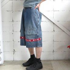 """画像3: """"MARITHE FRANCOIS GIRBAUD"""" Baggy Fit Denim Shorts BLUE DENIM size W40 INCH (3)"""