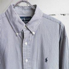 """画像3: """"Ralph Lauren"""" BLAKE  Broad B.D. Shirt BLUE STRIPE size L (3)"""