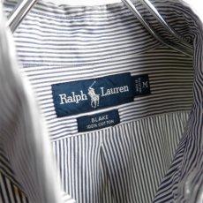 """画像5: """"Ralph Lauren"""" BLAKE  Broad B.D. Shirt BLUE STRIPE size L (5)"""