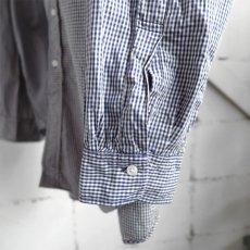 "画像6: 1990's ""Brooks Brothers"" Broad B.D. Shirt NAVY CHECK size XL-XXL (6)"