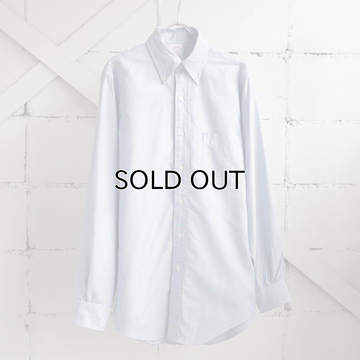 """画像1: 1990's """"Brooks Brothers"""" Supima Cotton Oxford B.D. Shirt SAX BLUE size M-L (1)"""
