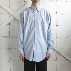 """画像6: 1990's """"Brooks Brothers"""" Supima Cotton Oxford B.D. Shirt SAX BLUE size M-L (6)"""