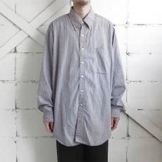 "画像7: 1990's ""Brooks Brothers"" Broad B.D. Shirt NAVY CHECK size XL-XXL (7)"