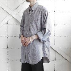 "画像2: 1990's ""Brooks Brothers"" Broad B.D. Shirt NAVY CHECK size XL-XXL (2)"