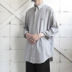 """画像2: """"Ralph Lauren"""" BLAKE  Broad B.D. Shirt BLUE STRIPE size L (2)"""