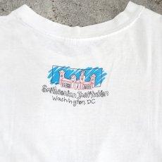"""画像3: 1990's """"Smithsonian Institution"""" Print T-Shirt WHITE size L (3)"""