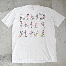 """画像1: 1990's """"FLORIDA"""" Flamingo Print T-Shirt WHITE size M-L (1)"""