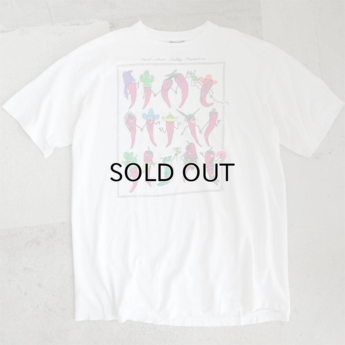 """画像1: 1990's """"Red Hot Silly Peppers"""" Print T-Shirt WHITE size XL-XXL (1)"""