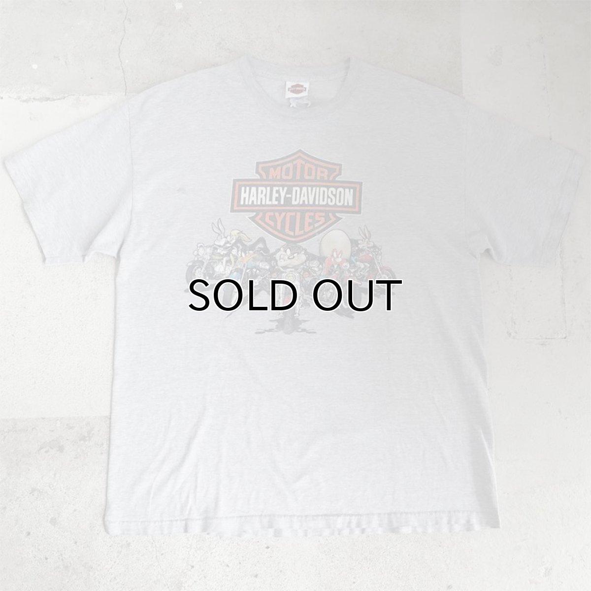 """画像1: 1990's """"HARLEY-DAVIDSON"""" -LOONEY TUNES- Print T-Shirt HEATHER GREY size XL (1)"""