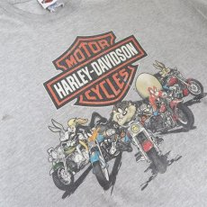 """画像6: 1990's """"HARLEY-DAVIDSON"""" -LOONEY TUNES- Print T-Shirt HEATHER GREY size XL (6)"""