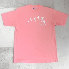 "画像1: 1980's ""Cape Cod"" Animal Print T-Shirt PINK size L (1)"