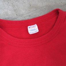 """画像3: 1980's """"Champion"""" All Cotton T-Shirt -Solid Color- RED size M-L (3)"""