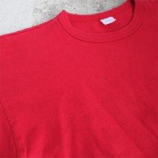 """画像7: 1980's """"Champion"""" All Cotton T-Shirt -Solid Color- RED size M-L (7)"""