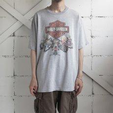 """画像3: 1990's """"HARLEY-DAVIDSON"""" -LOONEY TUNES- Print T-Shirt HEATHER GREY size XL (3)"""