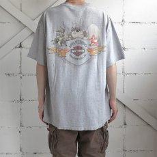 """画像4: 1990's """"HARLEY-DAVIDSON"""" -LOONEY TUNES- Print T-Shirt HEATHER GREY size XL (4)"""
