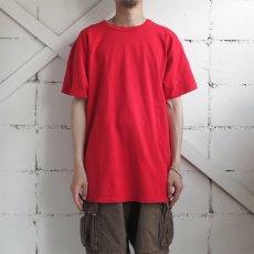"""画像2: 1980's """"Champion"""" All Cotton T-Shirt -Solid Color- RED size M-L (2)"""