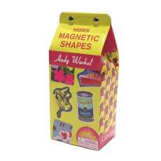 画像1: 新品 Andy Warhol(アンディウォーホル) Wooden MAGNETIC SHAPES(マグネット) 35piece入り (1)
