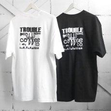 """画像5: NEW """"TROUBLE COFFEE"""" -SHOP LOGO- Back Print Pocket T-Shirt BLACK size L, XL (5)"""