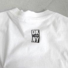 "画像3: 1990's ""DKNY JEANS"" Print T-Shirt WHITE/BLACK size L (3)"