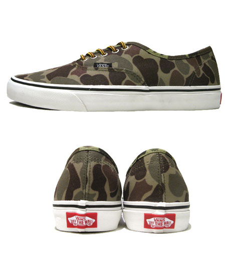 "画像2: NEW VANS ""Authentic"" Canvas Sneaker Duck Hunter Camo size 11"