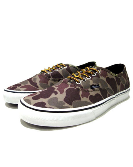 "画像1: NEW VANS ""Authentic"" Canvas Sneaker Duck Hunter Camo size 11"