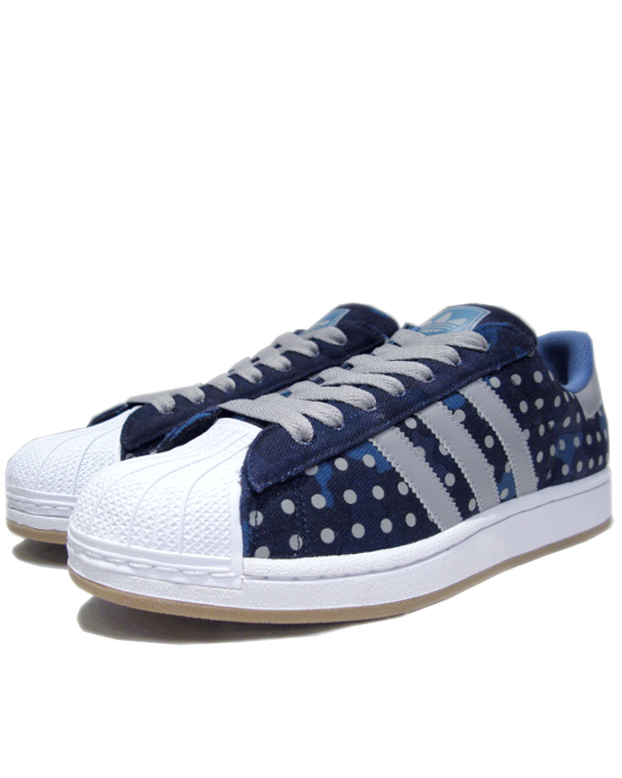 "画像1: NEW◆adidas ""SUPER STAR II"" Canvas Dot Sneaker BLUE size  9 ,  9.5 (1)"