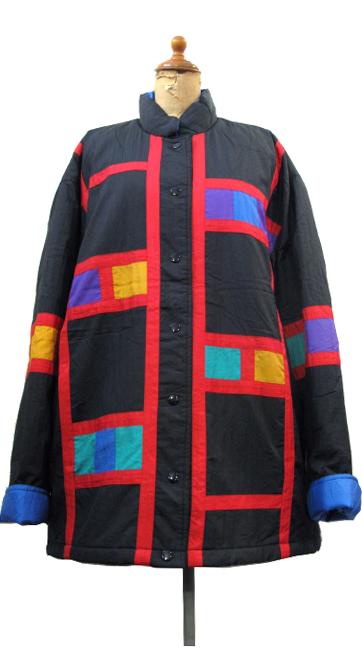 """画像1: 1990's """"Spencer Douglas"""" Design Nylon Patting Jacket BLACK size M (表記 M) (1)"""