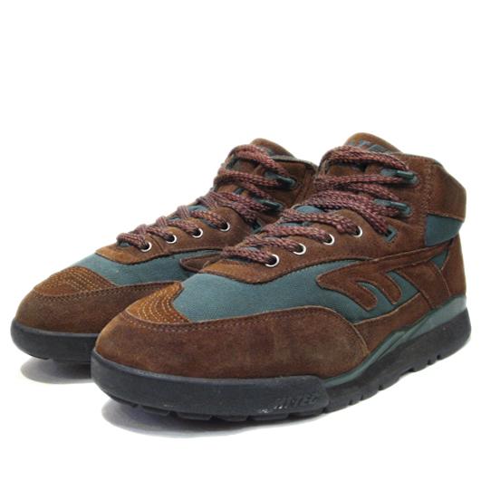 """画像1: HI-TEC """"Mt. DIABLO"""" Mountain Sneaker Brown / Green size 9 (27 cm) (1)"""