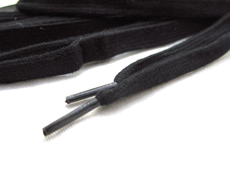 """画像3: SHOE SHIFT """"Regular Width"""" Cotton Shoelace -made in JAPAN- BLACK"""