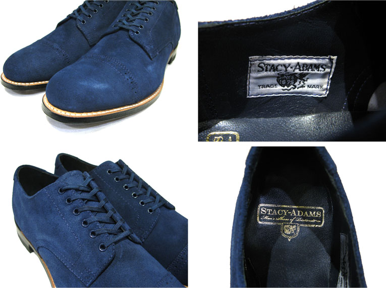 "画像4: STACY ADAMS ""MADISON LOW"" Suede Leather Shoes BLUE size 10"