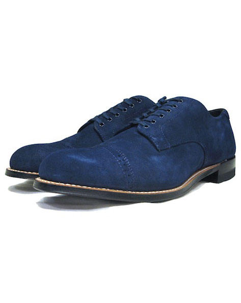 "画像1: STACY ADAMS ""MADISON LOW"" Suede Leather Shoes BLUE size 10"