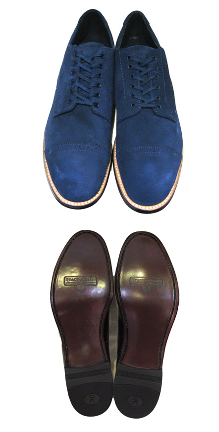 "画像3: STACY ADAMS ""MADISON LOW"" Suede Leather Shoes BLUE size 10"