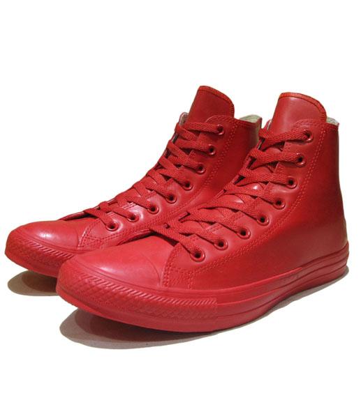 """画像1: NEW Converse """"ALL STAR"""" Hi-Cut Rubber Sneaker RED size 9"""
