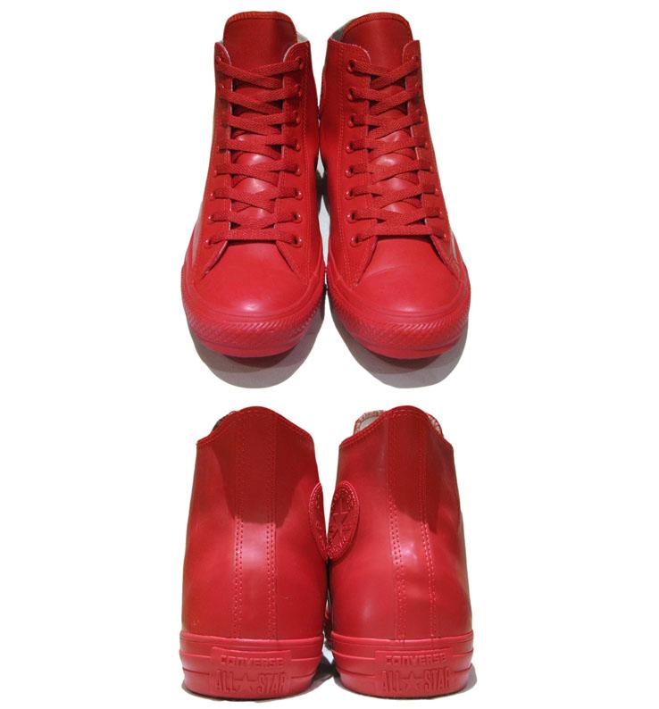 """画像2: NEW Converse """"ALL STAR"""" Hi-Cut Rubber Sneaker RED size 9"""