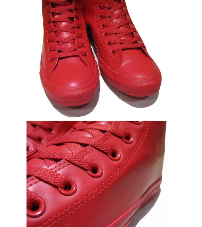 """画像4: NEW Converse """"ALL STAR"""" Hi-Cut Rubber Sneaker RED size 9"""
