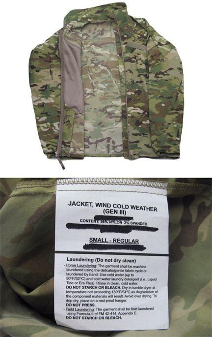 """画像3: U.S.ARMY ECWCS """"GEN III""""  Level4 Wind Jacket Dead Stock MULTICAM size SMALL - REGULAR"""