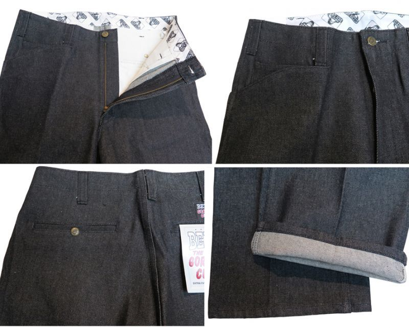 "画像4: BEN DAVIS  ""THE GORILLA CUT"" Wide Work Pants BLACK DENIM size w 30 / w 32"