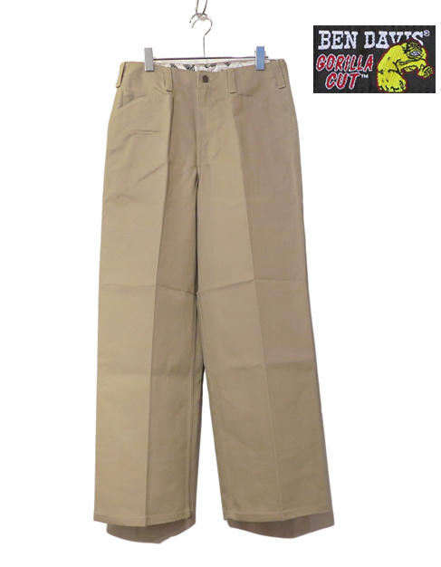 "画像2: BEN DAVIS  ""THE GORILLA CUT"" Wide Work Pants BEIGE size  w 30 / w 32"