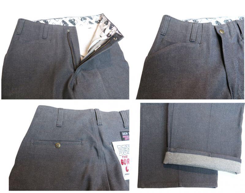 """画像4: BEN DAVIS  """"THE GORILLA CUT"""" Wide Work Pants GREY DENIM size w 30 / w 32"""