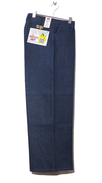 "画像1: BEN DAVIS  ""THE GORILLA CUT"" Wide Work Pants BLUE DENIM size w 30 / w 32"