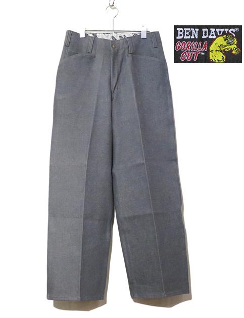 """画像2: BEN DAVIS  """"THE GORILLA CUT"""" Wide Work Pants GREY DENIM size w 30 / w 32"""